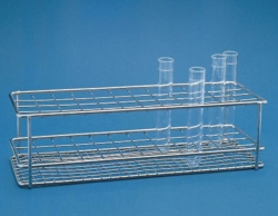 Gradilla para tubos de ensayo, alambre de acero fino