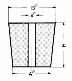 Bouchons en caoutchouc a une perforation