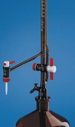 Burette automatique de Pellet SILBERBRAND, en verre borosilicaté 5.4 brun