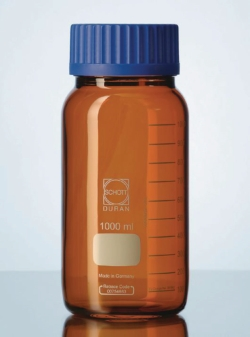 Wide-mouth bottles GLS 80®, DURAN® amber glass