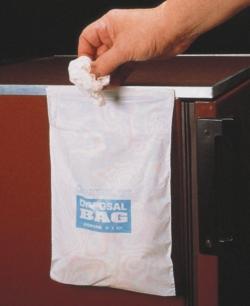 Abfallbeutel mit Klebestreifen, HDPE