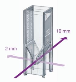 Cuve à usage unique UVette ® pour spectrophotomètre
