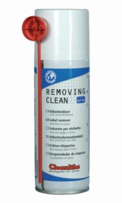 Solvant de nettoyage pour étiquettes en spray