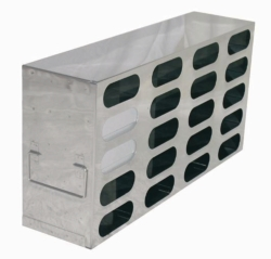Racks for upright freezers, stainless steel, for boxes with 100 mm height