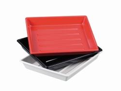 Cuvettes de développement photo LaboPlast®, en PVC, forme basse, fond rainuré, forme bord arrondi