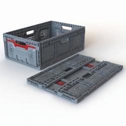 Boîte pliante maxi, PP, pliable et empilable, avec active lock