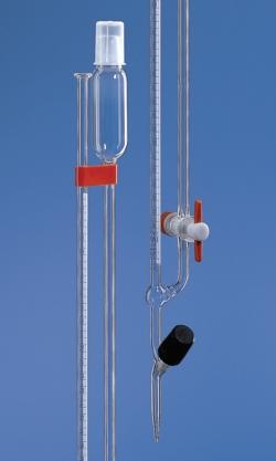 Microburette selon Bang avec robinet droit ou robinet latéral, en verre borosilicaté 3.3, Classe AS