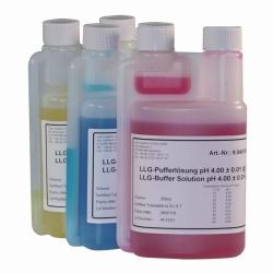 LLG-pH-Pufferlösungen mit Farbcodierung in Twin-Neck-Dosierflaschen LLG WWW-Katalog
