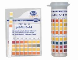 Tiras indicadoras del pH de color fijo, universales