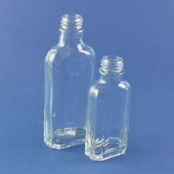 Bottles, glass, culture, flat, octagonal
