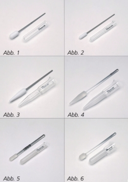 Homogenisers with PTFE or glass pestles