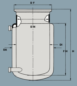 Flat ground flange reaction vessels, jacketed