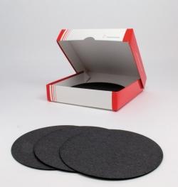 Filtrierpapier, 508, qualitativ mit Aktivkohle, Rundfilter