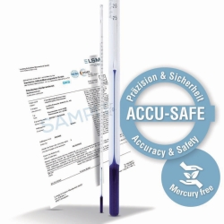ASTM Thermometer ACCU-SAFE, calibrated, stem type