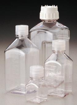 Square Media Bottles Nalgene™ Typ 2019, PETG, sterile