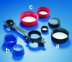 Schroefdoppen voor vierkante reagentiaflessen, PP WWW-Interface
