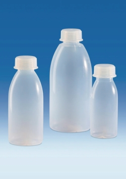 Wide-mouth bottles with screw thread, PFA