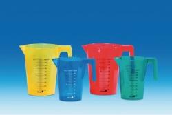 Graduated jugs, PP, coloured