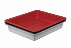 Photographic trays LaboPlast®, PVC, deep form with ribs on bottom