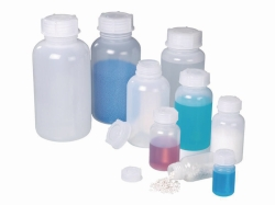 Wide-necked bottle, LDPE, transparent