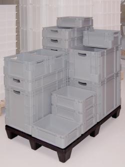 Stapelbare opslagboxen