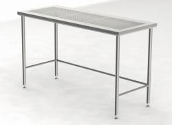 Cleanroomtafels met geperforeerd werkblad