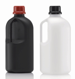 """Narrow-mouth reagent bottles, series 310 """"Safe Grip"""", HDPE, UN-approved"""