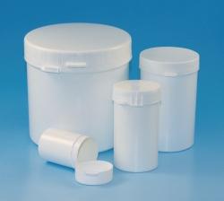 Pot rond LLG, en PS/PP, avec bague dinviolabilité, LDPE/PP